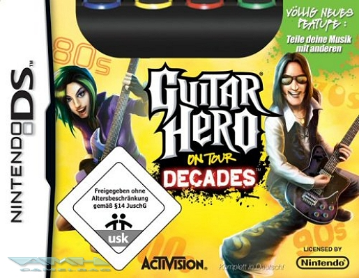 GUITAR HERO ON TOUR DECADES MIT GUITAR GRIP DS NEU/OVP