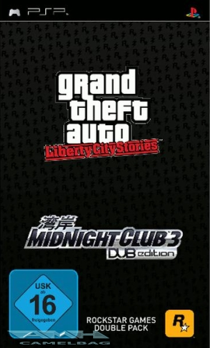 GTA LIBERTY CITY STORIES + MIDNIGHT CLUB 3 PSP NEU/OVP
